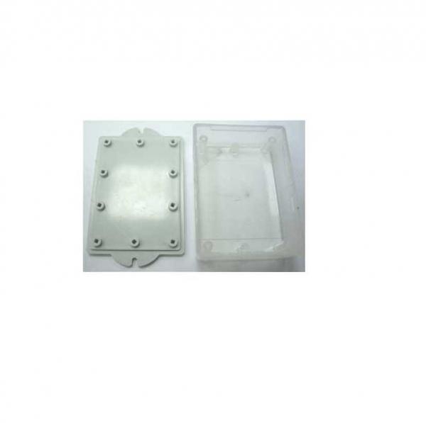 Корпус пластиковый 90х65х30 мм с крепежными проушинами (белый/прозрачный)