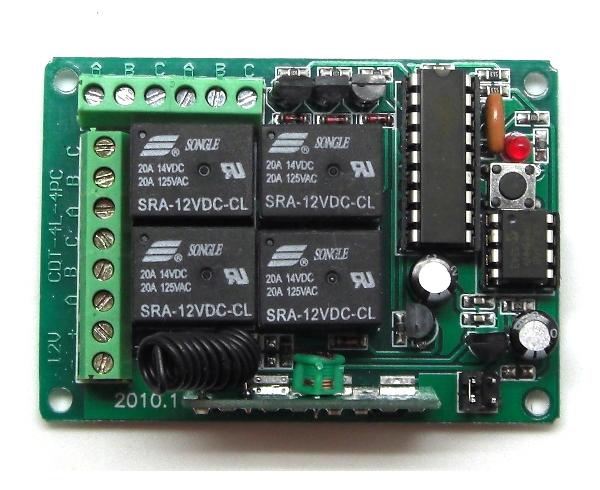 Дистанционное управление, 433МГц, 4 канала, 3 режима (блок питания не входит в комплект)