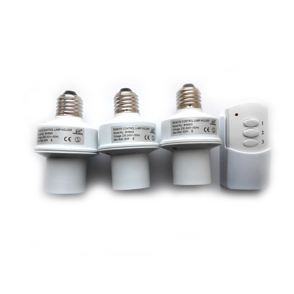 Беспроводной комплект управления освещением диапазона 433 МГц (три патрона до 60 Вт)