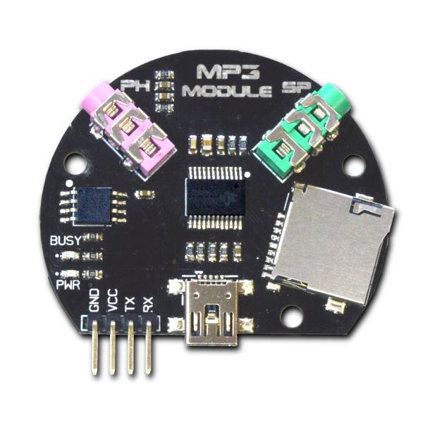 MP3-модуль с возможностью воспроизведения с микро SD карточки