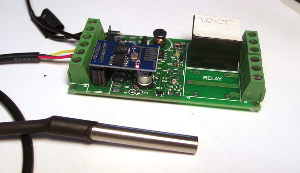 Модуль с герметичным датчиком температуры
