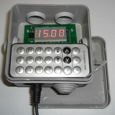 MP350 - В монтажной коробке можно хранить пульт
