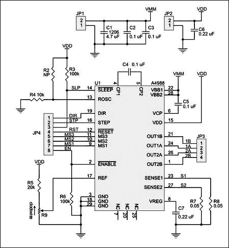 MP4988 - Драйвер шагового