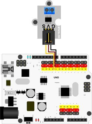 MP592 - Аналоговый датчик тока 30А на базе ACS712ELC-30A - Схема