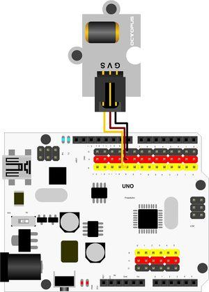 датчик вибрации - Схема