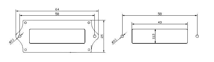 Установочные размеры - MP606 - Графический индикатор заряда АКБ - 12В, 24В, 36В, 48В