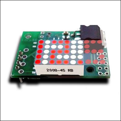 Миниатюрный встраиваемый вольтметр с анимированным светодиодным индикатором MP503