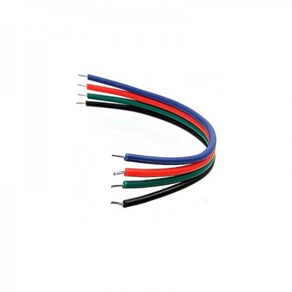 Провод монтажный 4x150мм AWG 22 RGB+Black