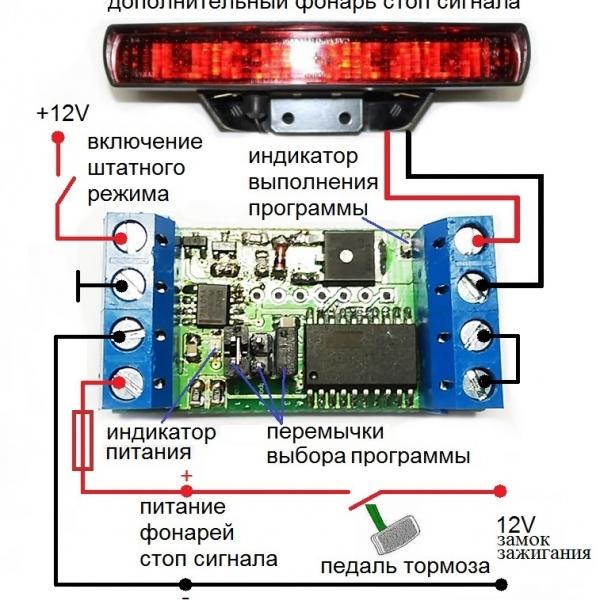 Устройство управления стоп-сигналами автомобиля