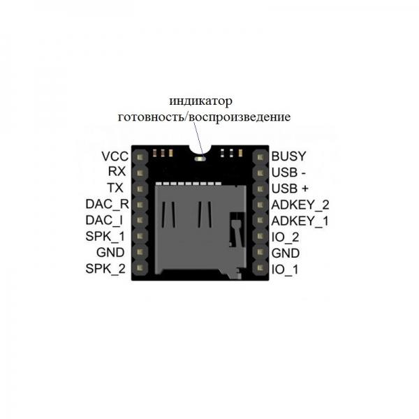 Встраиваемый MP3 плеер для microSD карт