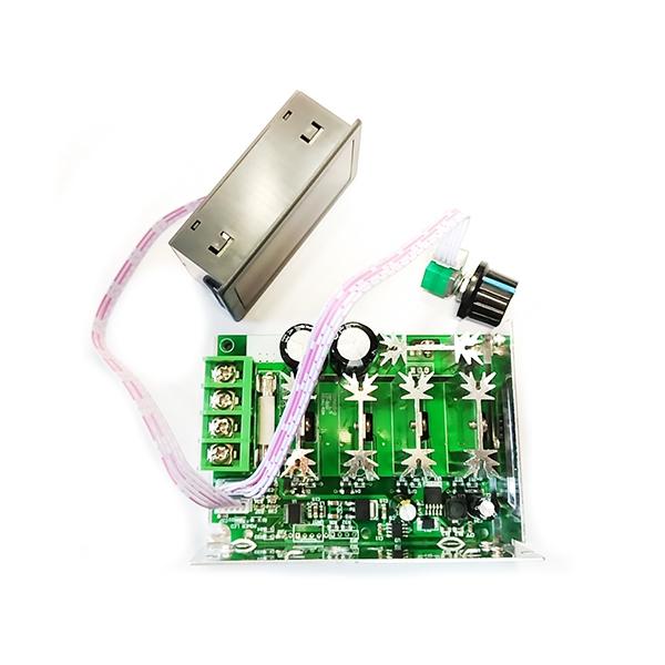 ШИМ регулятор мощности 12-80В / 30А в корпусе с радиатором и дисплеем