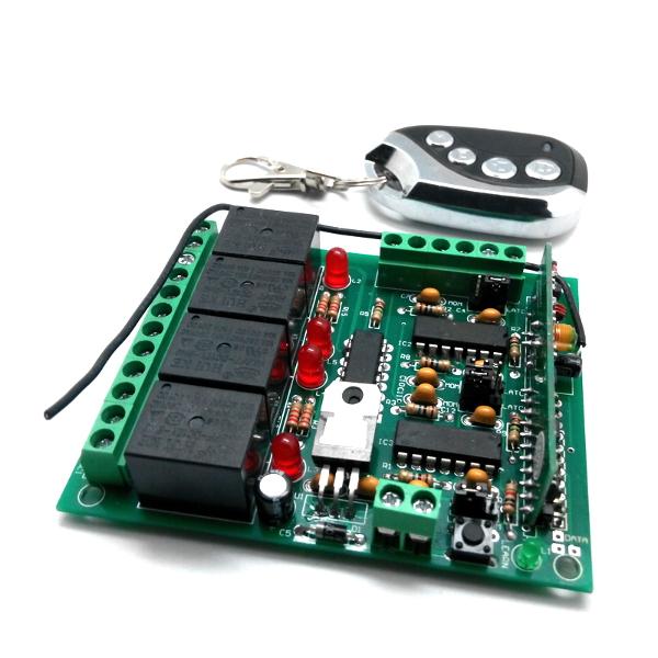 Беспроводное управление диапазона 433 МГц (2 режима, четыре реле до 2 кВт).