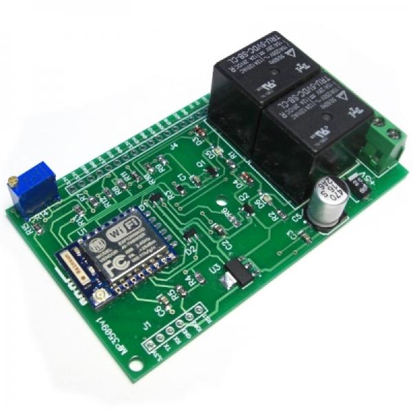 Интернет Wi-Fi реле с термометром с 2-мя реле по 2 кВт (на базе ESP8266)