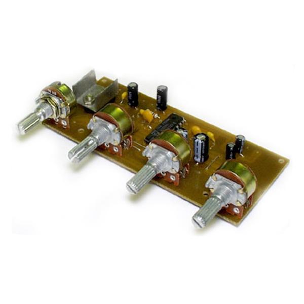 Предварительный усилитель темброблок (TDA1524, стерео)