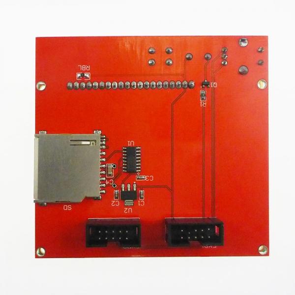 Плата для внешнего управления 3D-принтером. Графический ЖК-дисплей 128х64, считыватель SD-карт, энкодер.