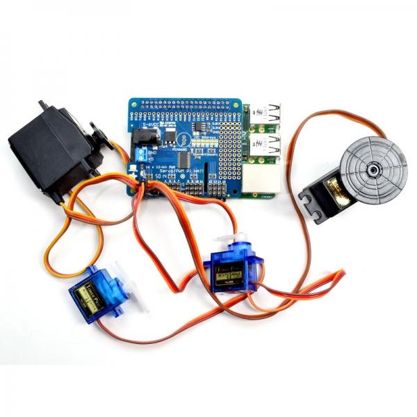 16-ти канальный сервоконтроллер для Raspberry Pi