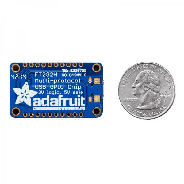 USB Преобразователь (адаптер) с чипом FT232H для связи с интерфейсами GPIO, SPI, I2C