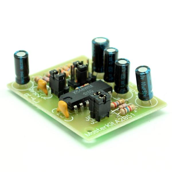 Микрофонный усилитель (стерео, К548УН1А)