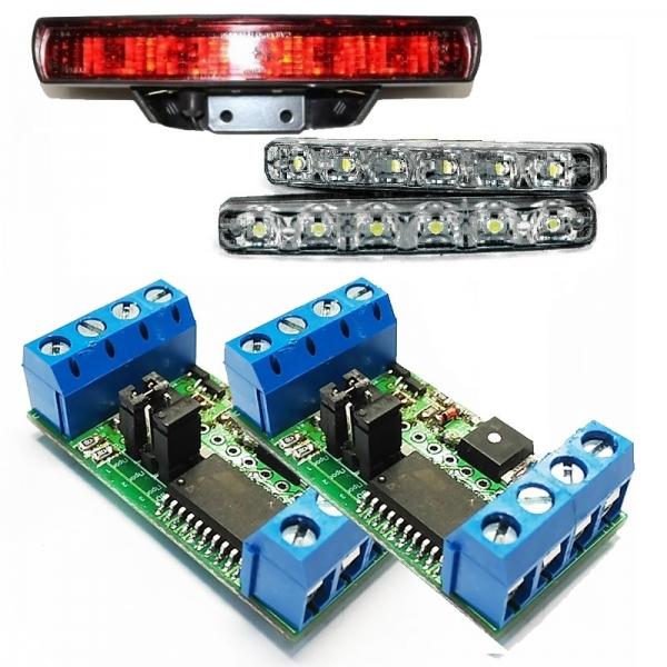 Устройство управления стоп-сигналами + устройство управления дневными ходовыми огнями
