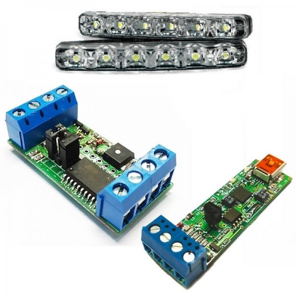 Автомобильный адаптер K-L-линии + устройство управления дневными ходовыми огнями