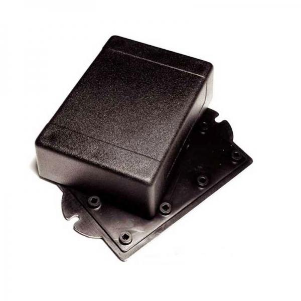 Корпус пластиковый черный 90х65х30 мм с крепежными проушинами