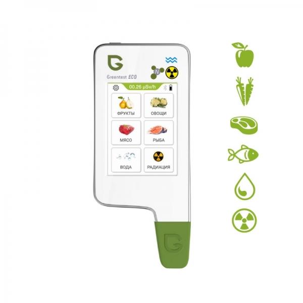 Нитрат-тестер, измеритель жесткости воды и дозиметр Greentest ECO 6