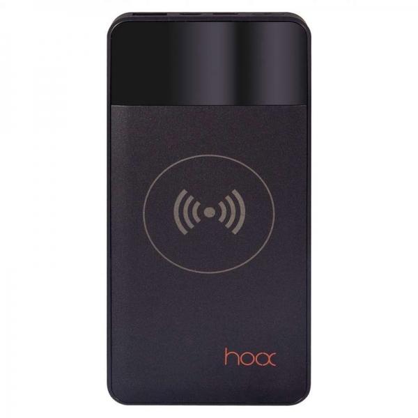 Внешний аккумулятор с беспроводной зарядкой Hoox Aura 10000 (черный)