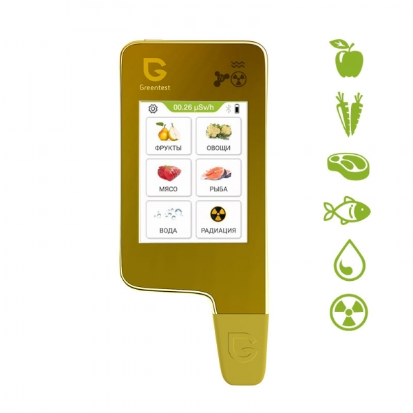 Нитрат-тестер, измеритель жесткости воды и дозиметр Greentest ECO 6 Gold
