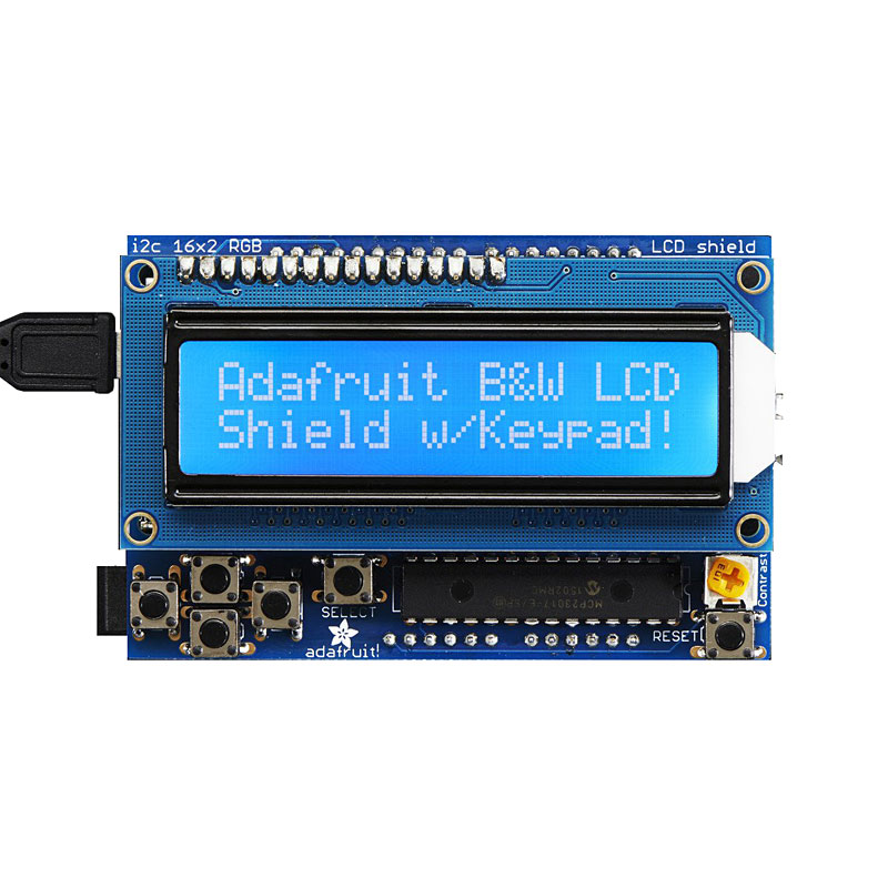 Adafruit 16x2 LCD Shield Kit for Arduino Blue