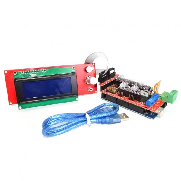 Плата внешнего управления 3D-принтером. Энкодер, SD-карта и ЖК-дисплей 20x4