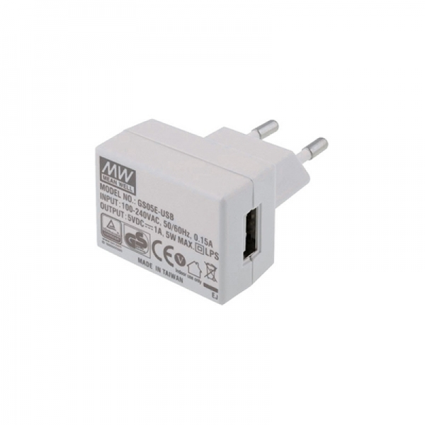 Сетевой адаптер 5В/1А с разъёмом USB