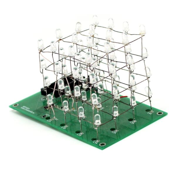 Светодиодный куб 4х4х4 для Arduino Nano