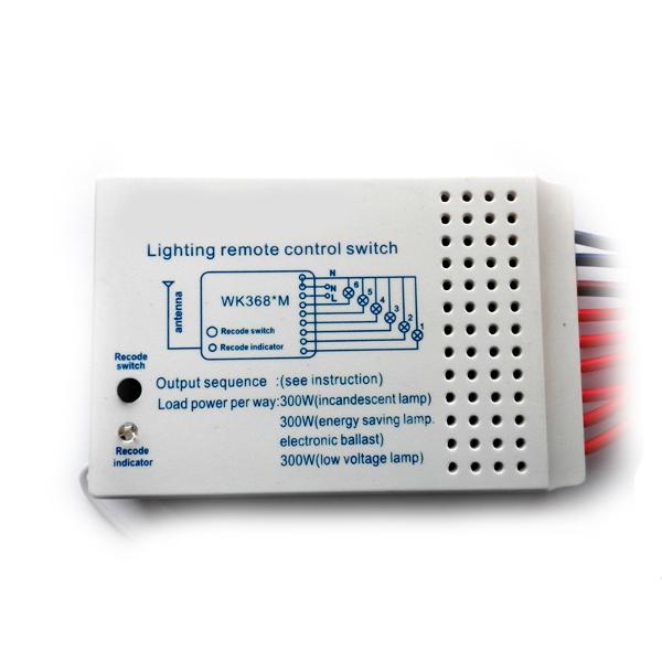 Беспроводной комплект управления освещением диапазона 433 МГц (6 каналов по 2 кВт)