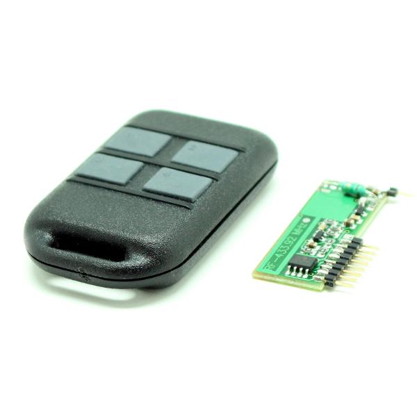 Комплект программируемого 4-х канального дистанционного управления 433 МГц