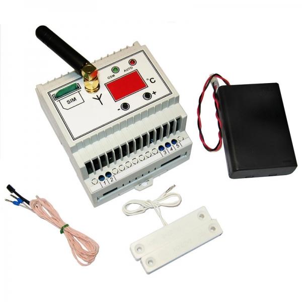 GSM термостат с индикатором температуры