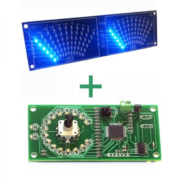 Цифровой (стрелочный) индикатор уровня мощности УНЧ + цифровой регулятор громкости