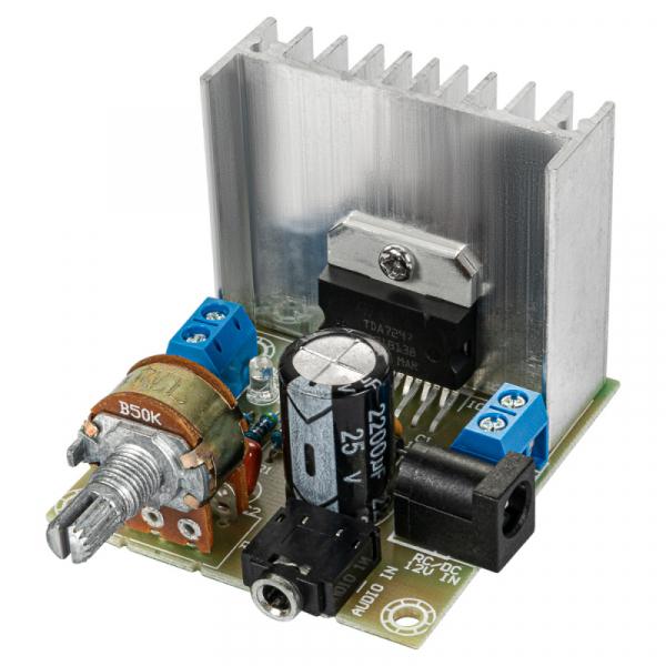 Усилитель НЧ 2х15Вт класс-АВ (TDA7297)