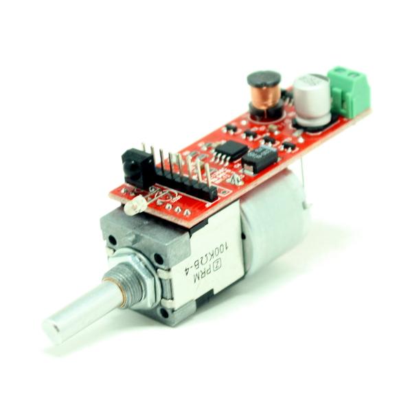 Моторизированный сдвоенный переменный резистор с тонкомпенсацией. (2 х 100 кОм)