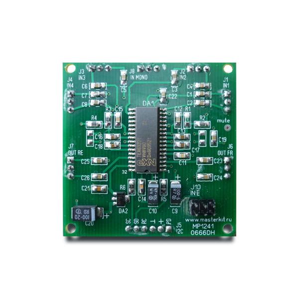 Предварительный усилитель – темброблок на 4-канала (TEA6320) Расширение для ARDUINO