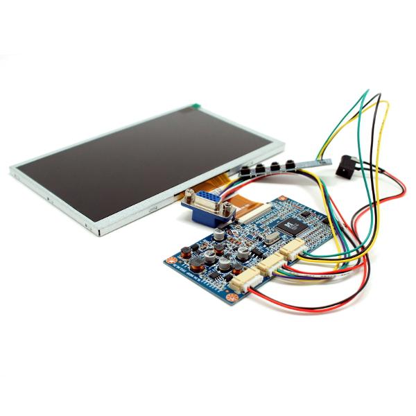 Цветной 7' TFT-LCD модуль разрешением 800 x 480 с VGA входом