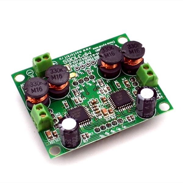 Цифровой усилитель D-класса мощностью 2 x 40 Вт.