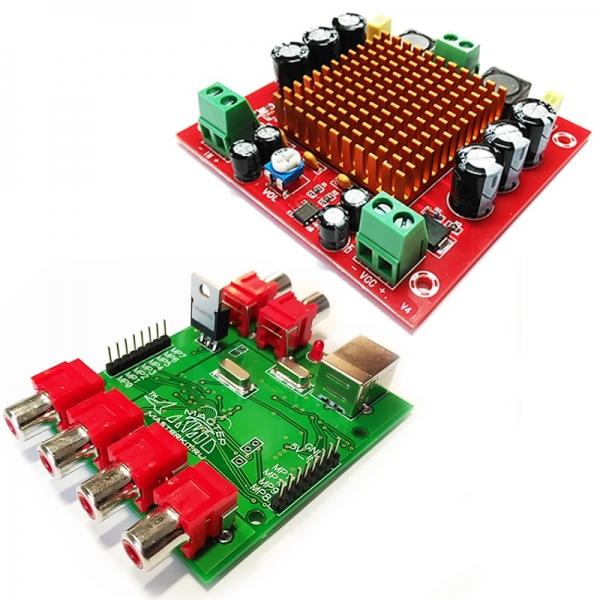 Усилитель НЧ D-класс 1х150Вт + DSP процессор для цифровой обработки звука