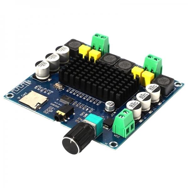 Усилитель НЧ класса D 2х50Вт с Bluetooth + SD (TPA3116)