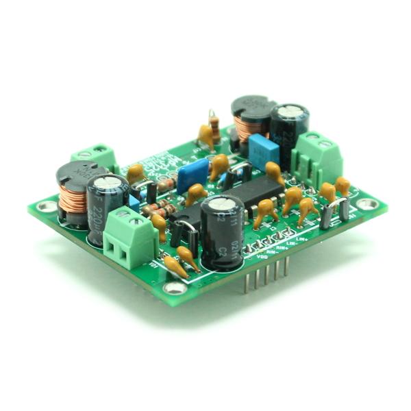 Цифровой усилитель D-класса мощностью 2x10Вт.