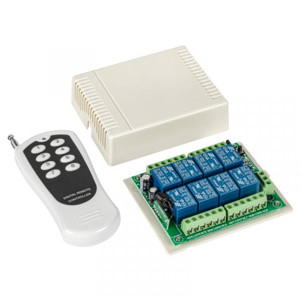 Универсальный комплект 433МГц, 8 реле, 10А, 2200Вт