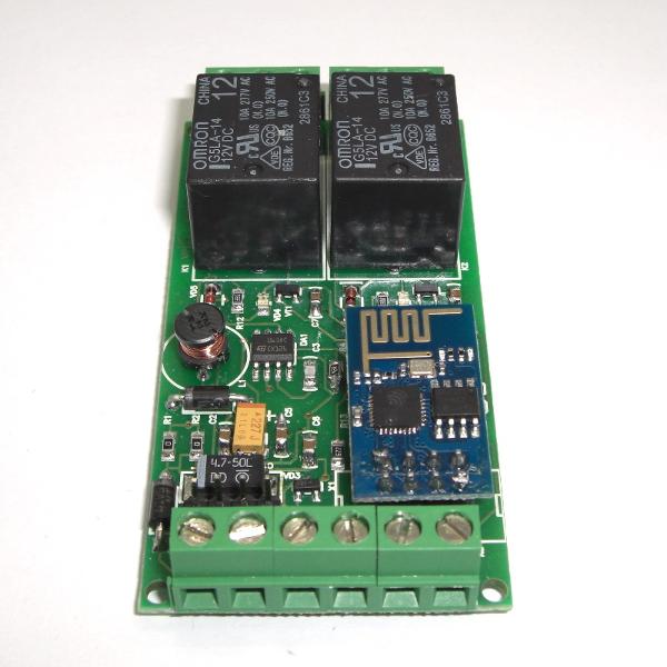 Wi-Fi реле, 2 канала (на базе ESP8266)