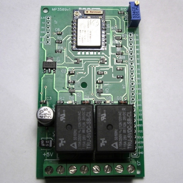 Wi-Fi реле, 2 канала (на базе ESP8266 V2)