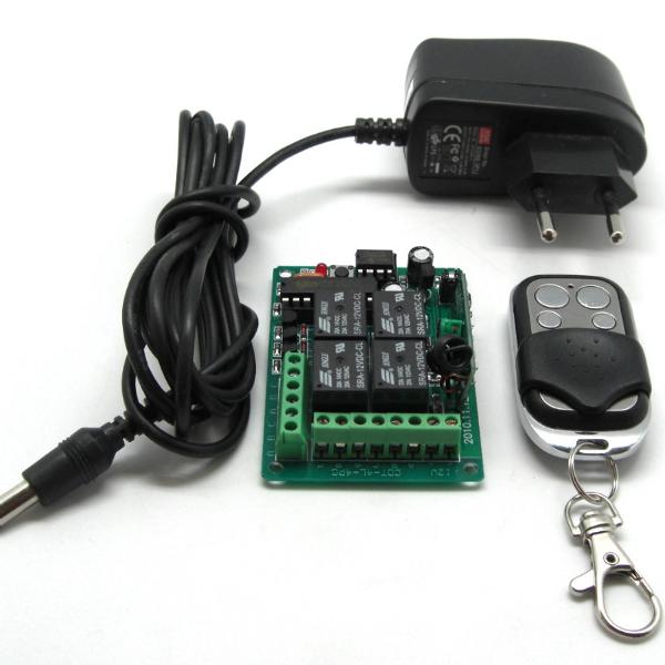 Дистанционное управление, 433МГц, 4 канала, 3 режима