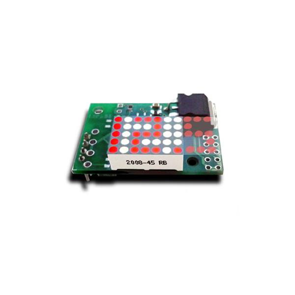 Вольтметр встраиваемый миниатюрный с анимированным светодиодным индикатором