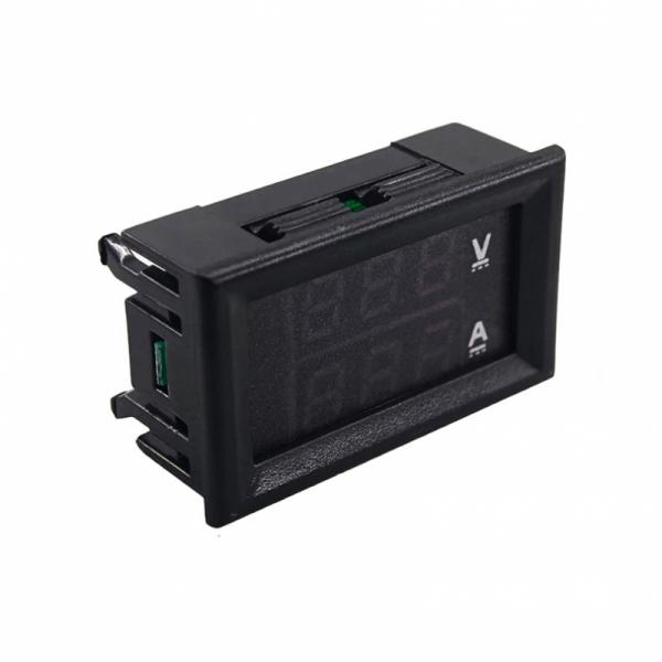 Встраиваемый цифровой вольтметр + амперметр 30В / 10А